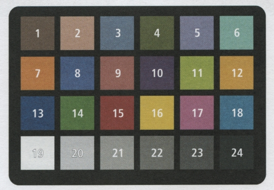 X-Rite: +Colorimetric values for ColorChecker Family of Targets