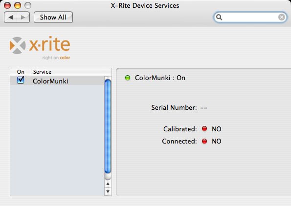 X-Rite: +Mac OS X - Activating, Registering and Connecting