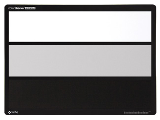 a white gray and black target all on a single card make color adjustments and grading faster and easier with your photo processing or video editing